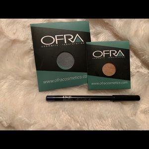 Ofra eyeshadows and eyeliner